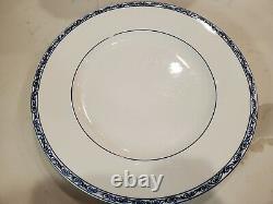 Set of 4 Ralph Lauren Mandarin Blue & White Dinner Plates