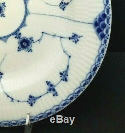 Set of 4 Royal Copenhagen Half Lace PLATE Blue Fluted Antique 1870-1890