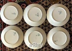 Set of 6 Royal Copenhagen Blue Flower Braided Dinner Plates