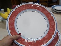 Set of 6 Villeroy & Boch Cottage red Dinner Plates Country Collection german
