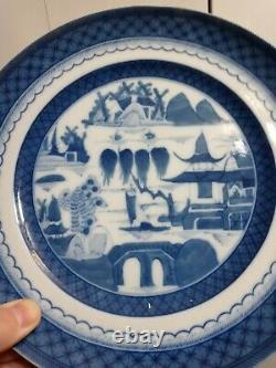Set of Six Mottahedeh Historic Charleston Blue Canton 10 Dinner Plates