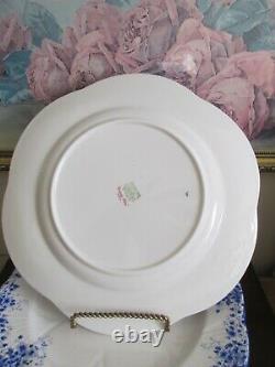 Shelley Dainty Blue Bone China England Set of 10 Dinner Plate