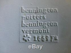 Six Vintage Bennington Vermont Potters Blue Agate 10 1/2 Dinner Plates 1660 ya