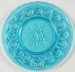 Smith Glass Moon and Stars Blue Dinner Plate 3750995