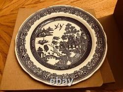 Spode Blue Room 10 Dinner Plates Georgian Plates Set of 6, New Blue & White