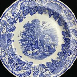 Spode Blue Room Collection plates Set x 4 Rome/Seasons/Rural Scenes/Byron Groups
