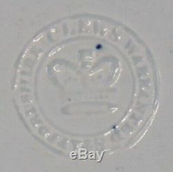 Staffordshire Blue Transferware Liberty & Justice States 10 5/8 Dinner Plate #2