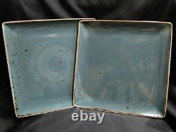 Steelite Craft, England NEW Blue Square Dinner Plate / Platter / Tray, 10 1/2