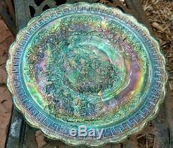 Super Super Rare Imperial Ig Ice Blue Carnival Homestead Chop Plate