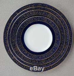 Superb rare antique/vintage MINTON cobalt blue sphinx DINNER PLATE SERVICE / SET