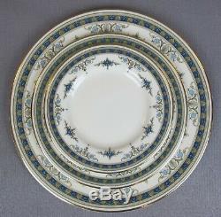 Superb vintage blue Minton Grasmere Dinner Service Set for 6. Plates bowls etc