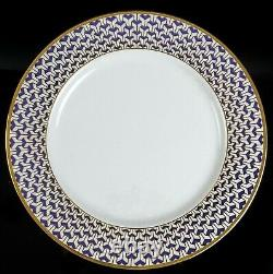 Tiffany & Co Manhattan Blue Porcelain Dinner Plate
