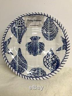 Tommy Bahama Melamine Dish Seashell Plates Platter Set of 9 Nautical Coastal NEW