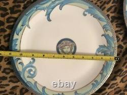 VERSACE Arabesque DINNER PLATE BLUE 11 Vintage GOOD RARE SALE
