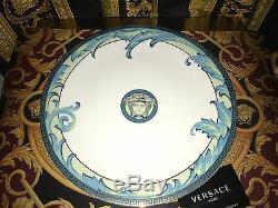 VERSACE DINNER SERVICE PLATE ARABESQUE ROSENTHAL BLUE 11 vintage SALE