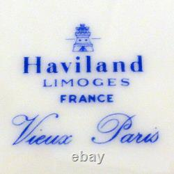 VIEUX PARIS BLUE by Haviland Limoges Dinner Plate NEW NEVER USED Made France