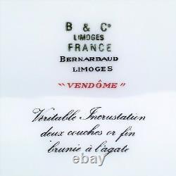 Vendome by Bernardaud Dinner Plate Gold Encrusted with Cobalt