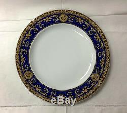 Versace Medusa Blue Dinner Plate 10 1/2 Brand New Rosenthal