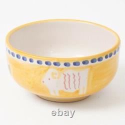 Vietri SOLIMENE Italian Ceramic 3 Piece Set Dinner & Salad Plates + Coupe Bowl