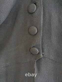 Vintage 40s Dinner Plate Double Eleven Navy Jacket Blouse Excellent Condition