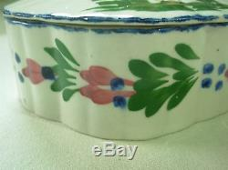 Vintage Blue Ridge Southern Potteries French Peasant Round Candy Box With LID