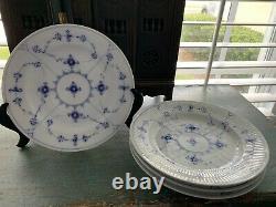 Vintage Blue & White Fluted Royal Copenhagen Dinner Plate
