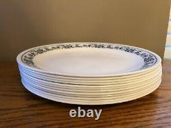Vintage CORELLE Set Of 12 DINNER PLATES Large 10 1/4 Inch OLD TOWN Blue Onion