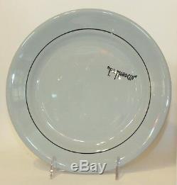 Vintage El Morocco Memorabilia Dinner Plate Buffalo China Blue Lune