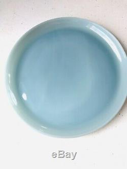 Vintage Fire King Turquoise Blue Delphite 9 Dinner Plates Set of 5 J006