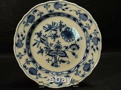 Vintage Meissen Blue Onion 9.5 Dinner Plate, Oval Meissen Stamp