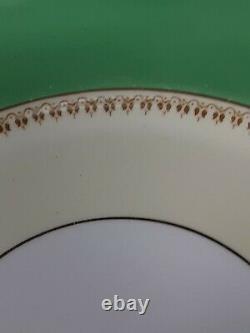 Vintage Royal Swansea Blue Dawn Green 10 1/4 Dinner Plates (6)