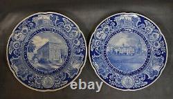 Vintage Set of 12 Wedgwood Blue COLUMBIA UNIVERSITY Dinner Plates