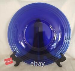Vintage Set of 4 Cobalt Blue Bormioli Rocco Forum Saphir Dinner Plates 10 3/8