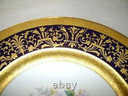 Vintage Spode Copeland's China Dinner Plates Blue Gold Peonies Marshall Field