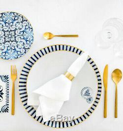 Vista Alegre Porcelain Transatlântica 5 Piece Dinnerware Set