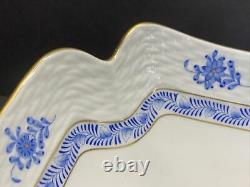 Vtg Herend Porcelain Blue Chinese Bouquet Sqare Dinner Plate 181 / Ab 10 W
