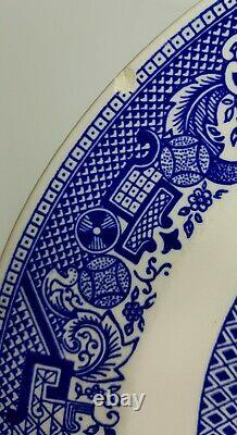 Vtg Large Blue Willow Dinner Plates Willow Ware 9 Royal Ironstone China