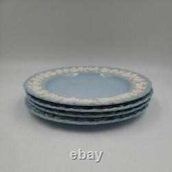 Wedgewood Queensware Shell Cream On Lavender Blue 8 Dinner Plates Set of 4 V1