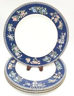 Wedgwood England BLUE SIAM set of 4 Dinner Plates First Quality MINT