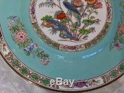 Wedgwood England Bideford Turquoise Hand Enameled Dinner Plates (12)