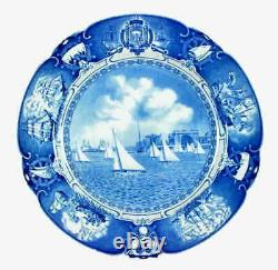 Wedgwood United States Naval Academy Blue Sailboat Drill Dinner Plate 5556124