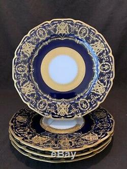 s Limoges Blue and Gold Dinner Plate