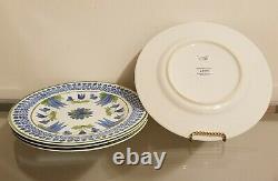 Williams Sonoma Aerin Lauder Ardsley Dinner Plates Set of 4 NEW