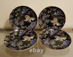 Williams Sonoma Crane Collection Vietnam Medallion & Heron Setting Set for 4