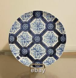 Williams Sonoma Porto Dinner Plate Setting for 4 White & Blue NEW