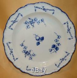 Yorkshire Pearlware Blue & White Shell Border Dinner Plate 1 C1790-95